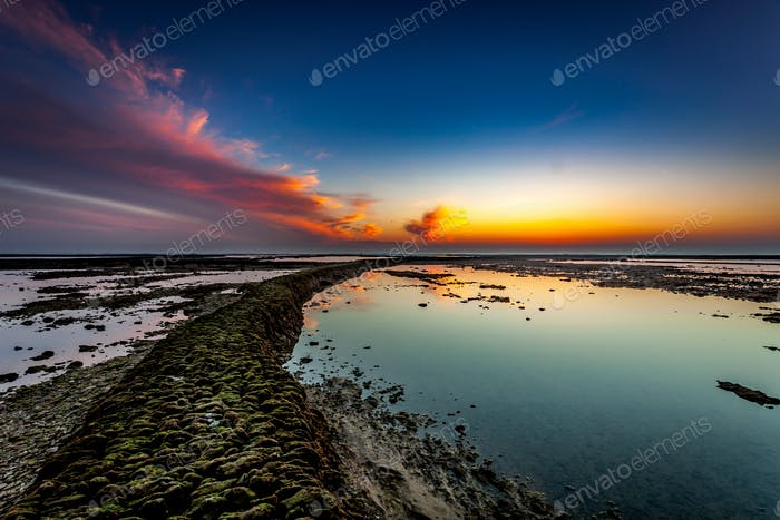 Beach of the Corrales,  fish pens, of Rota, Cadiz, Spain