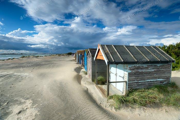 Pretty Beach Huts in Sussex