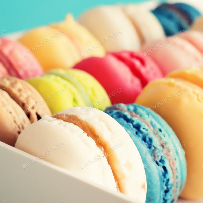 Macaroons, Parisian and colorful