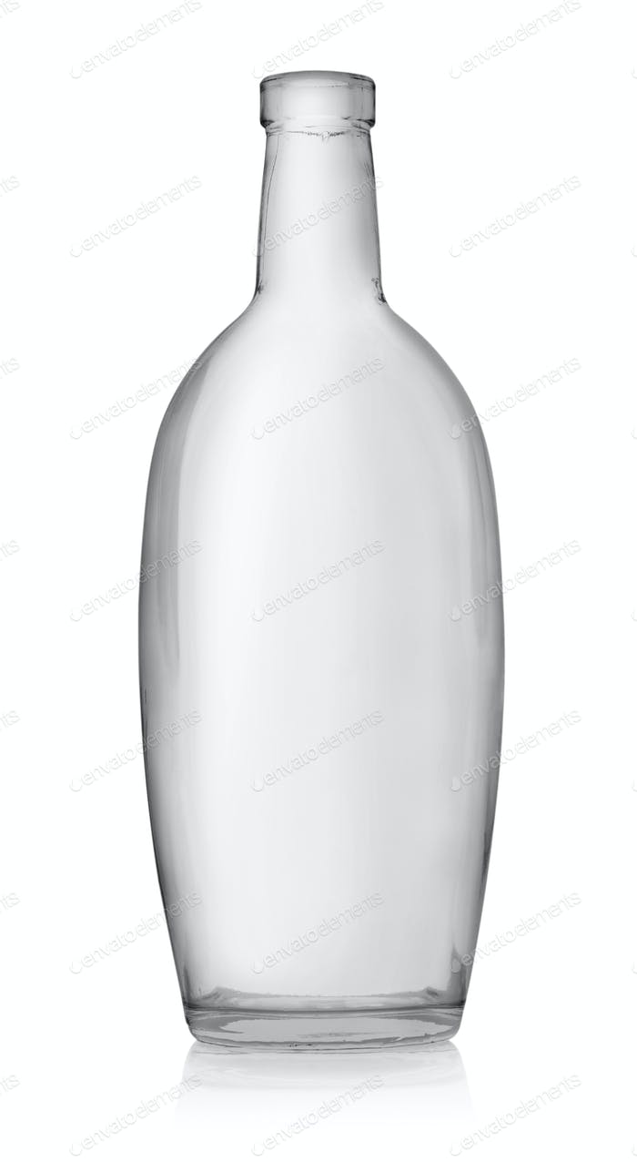 Empty bottle of vodka