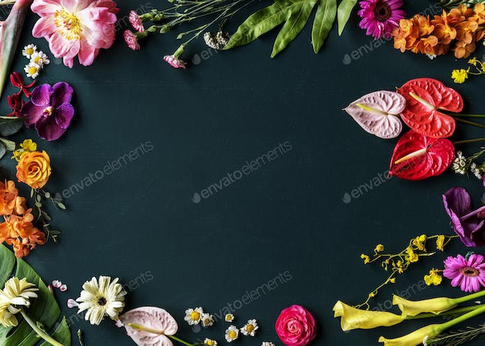 Floral leaves romance decoration freshness lush