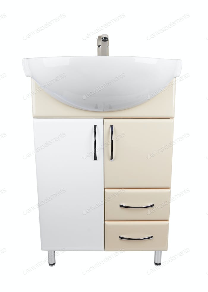 cabinet with a sink