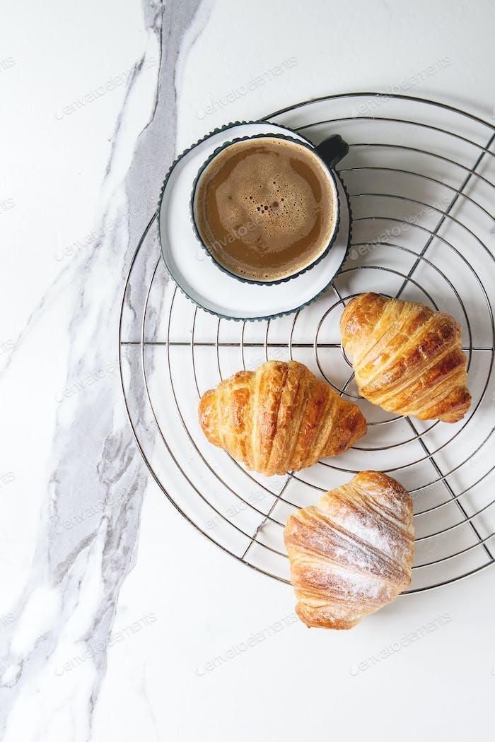 Fresh baked croissant