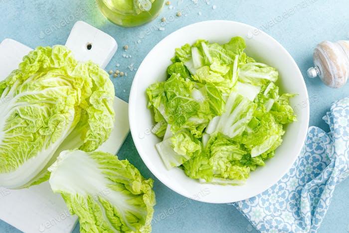 Frischer chinesischer Napa Krautsalat