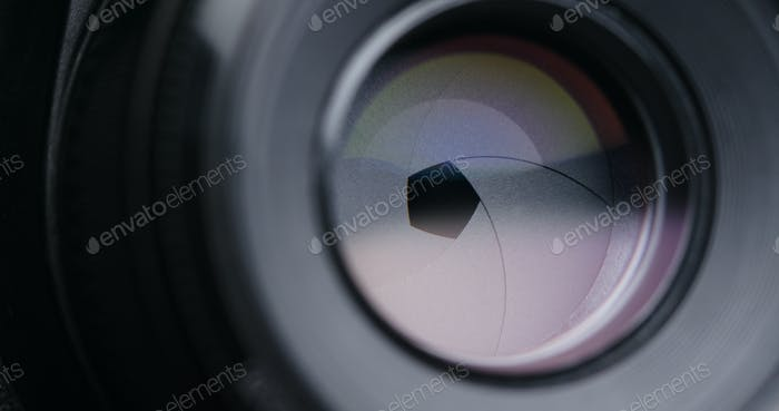 Changing Camera lens aperture