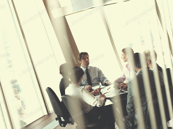 business people group on meeting at bright modern office