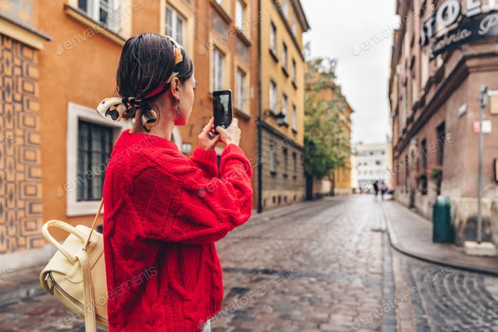 Young traveler in Europe