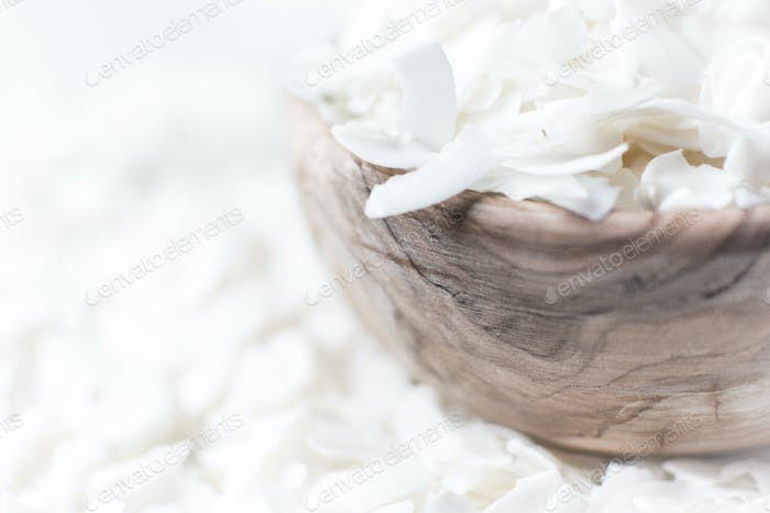 Bowl of coconut flakes