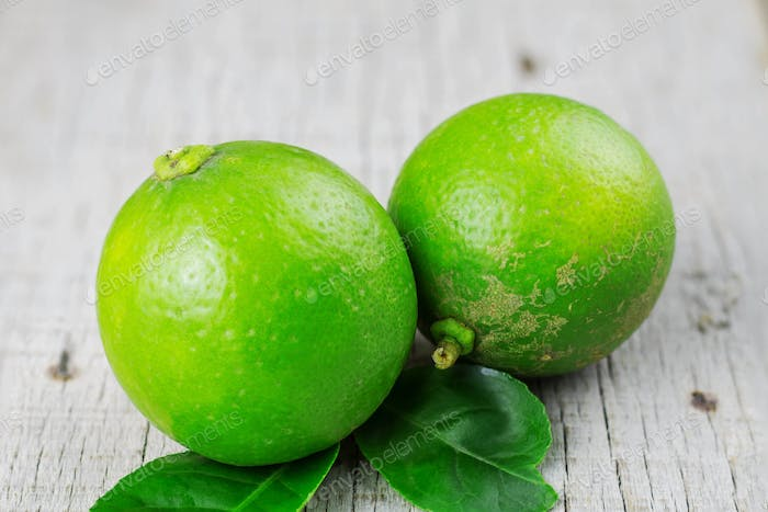 Lime on wooden