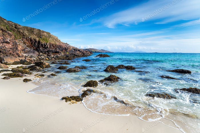The sandy beach at Hushinish