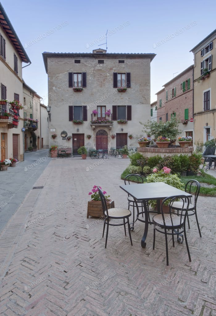 Medieval Square in Italy