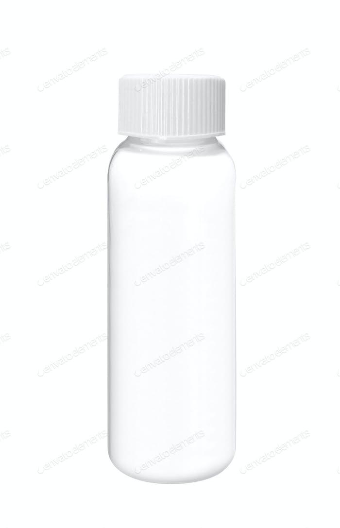 weiße Shampoo Flasche isoliert auf weiß