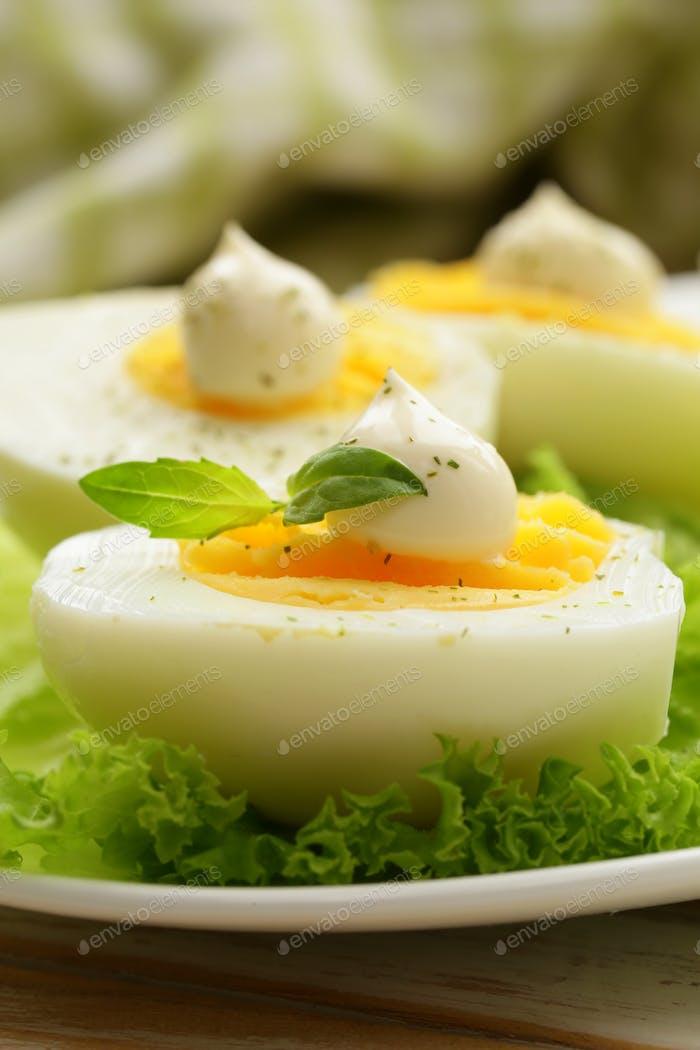 Vorspeise Von Gekochten Eiern