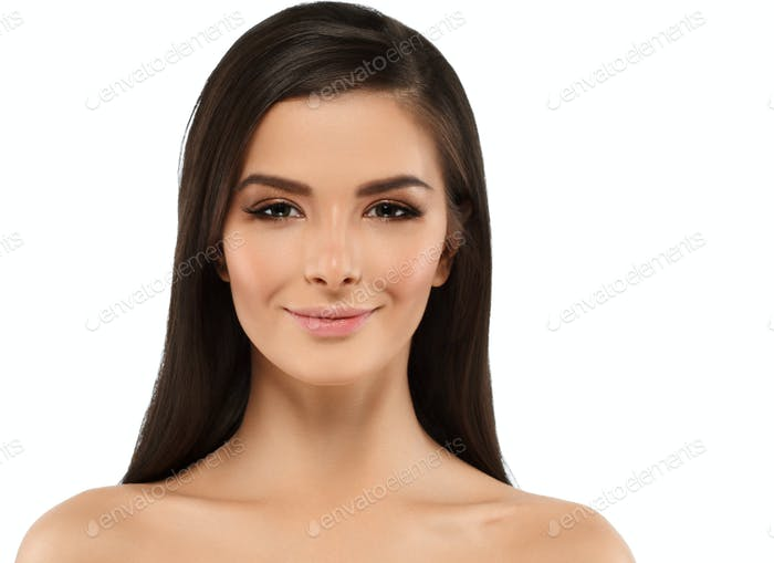 Woman with skin healthy soft and beauty, skincare concept