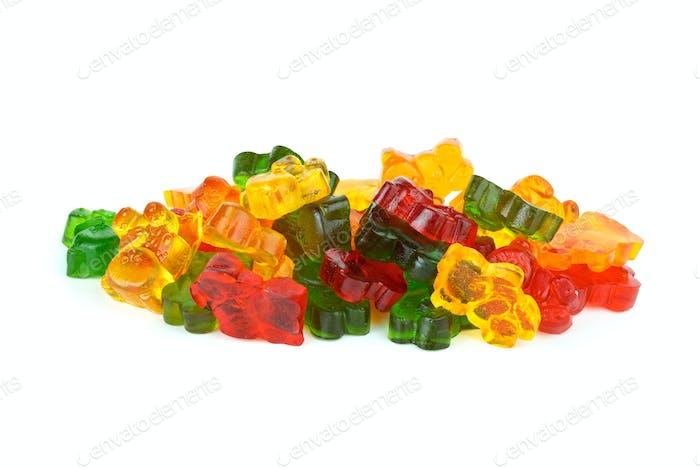 Einige bärenförmige verschiedene farbige Fruchtgelees