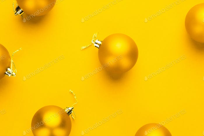 Yellow Christmas Tree Decoration