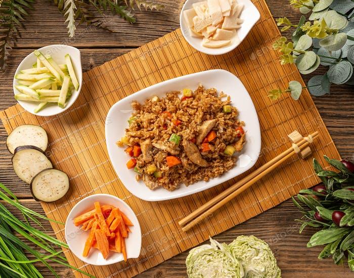 Menü im chinesischen Stil