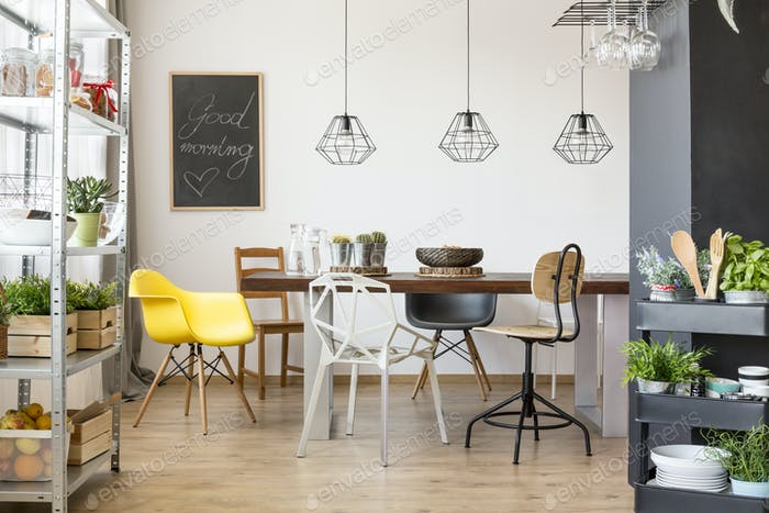 Room with communal table