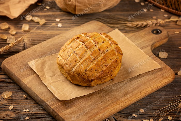 Savory scones with roasted pork cracklings
