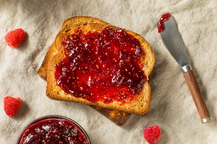 Healthy Homemade Raspberry Jam Preserve