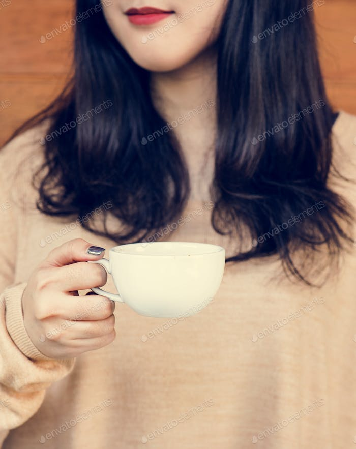 Woman enjoying coffee on the weekend
