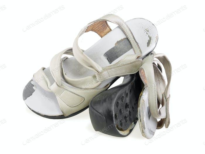 Broken working women shoes