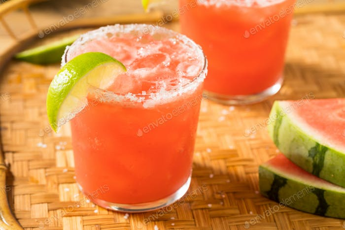 Boozy Erfrischende Wassermelone Margarita