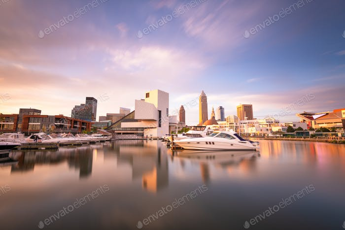 Cleveland, Ohio, USA Downtown Cityscape