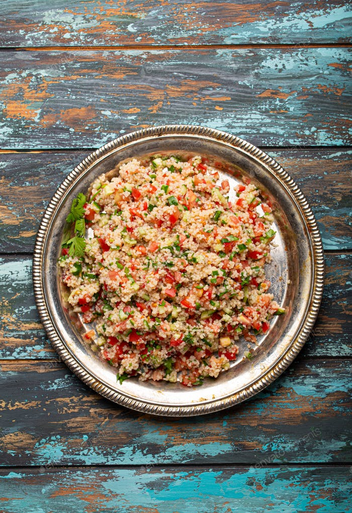 Arab Turkish salad tabbouleh from above