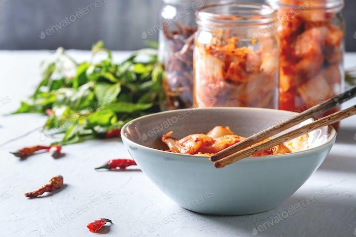 Korean appetizer kimchi