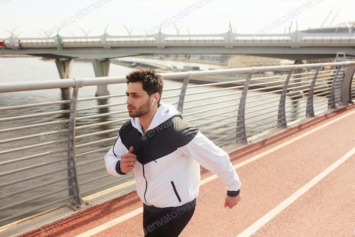 Guy jogging