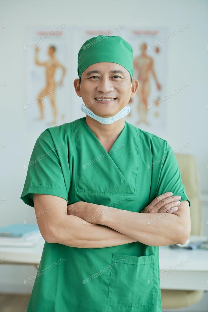 Surgeon at office