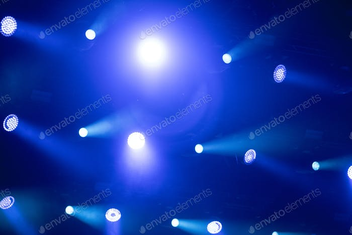 Bright stage lights