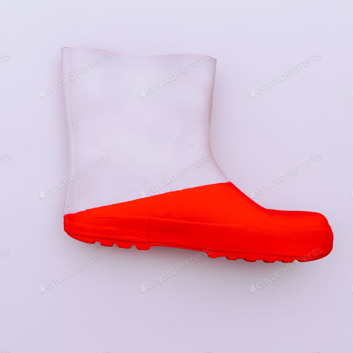 Rubber boot Minimal art design