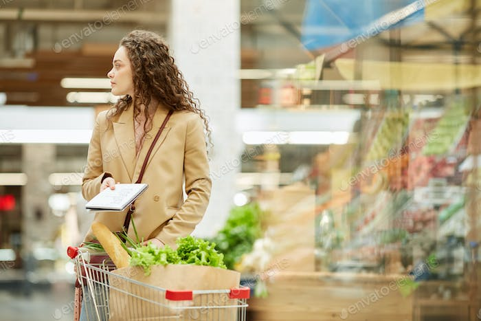 Young Woman in Grocery Store
