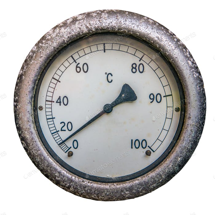 Isoliertes Zifferblatt Thermometer