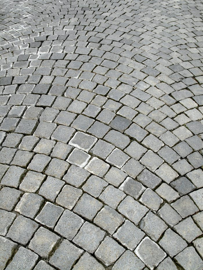 Cobblestoned pavement background