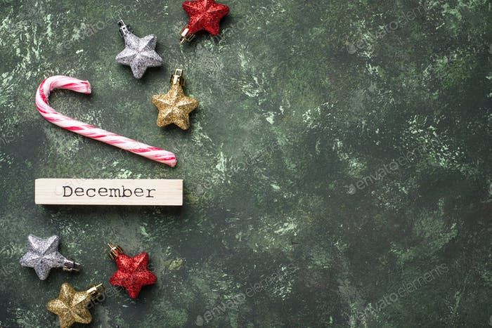 Christmas background with shiny glitter stars