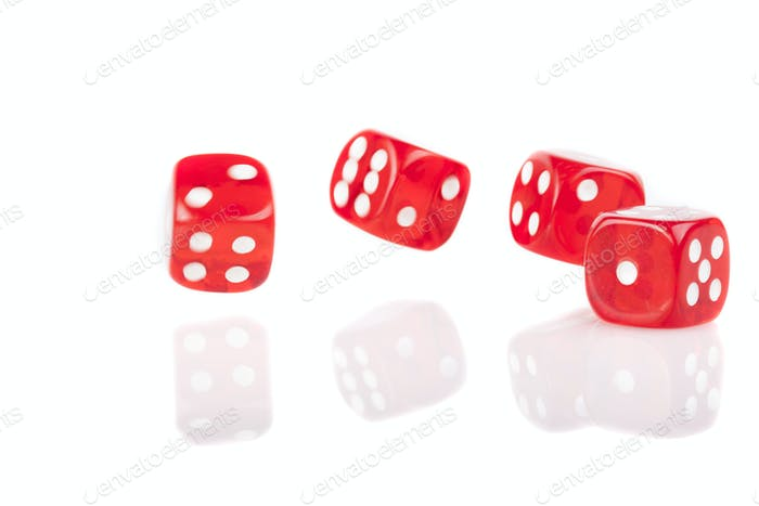 Red Lucky Dices