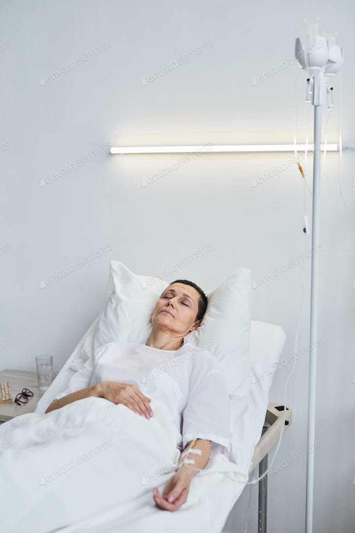 Person in a hospital gown