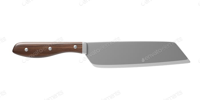 Kitchen knife isolated against white background. 3d illustration