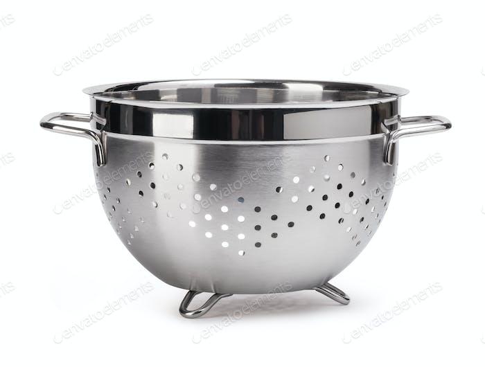 silver colander