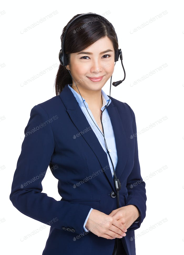 Young customer service girl