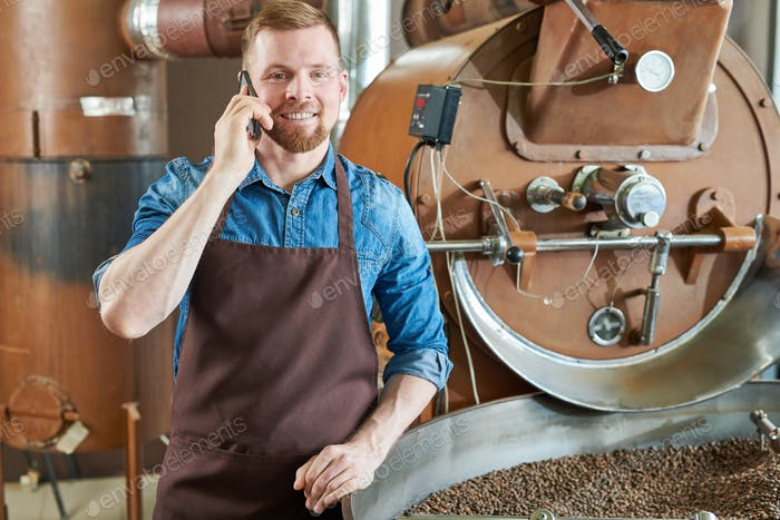 Barista Speaking by Phone