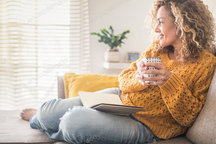 Woman have relax at home