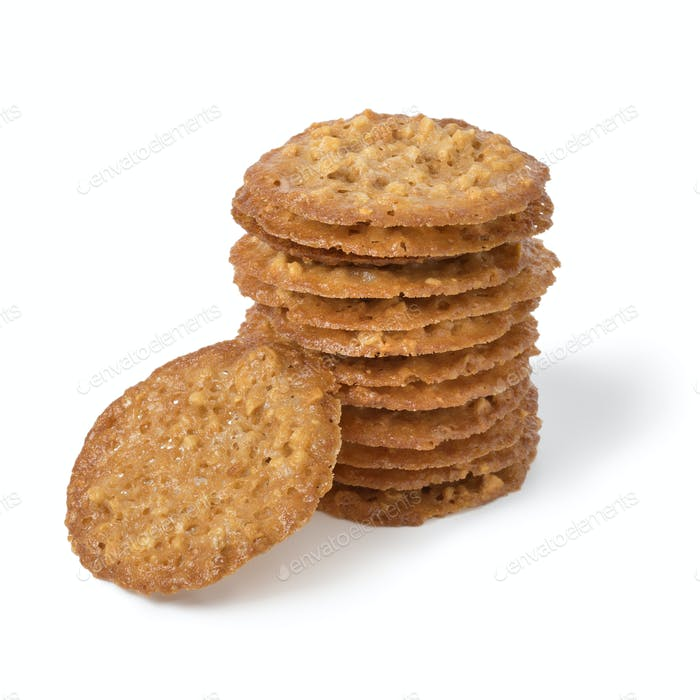 Stack of traditional Kletskop cookies