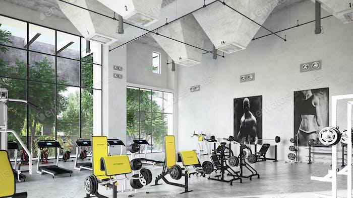 Fitness Gym interior