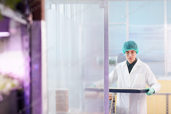 Worker in the lab