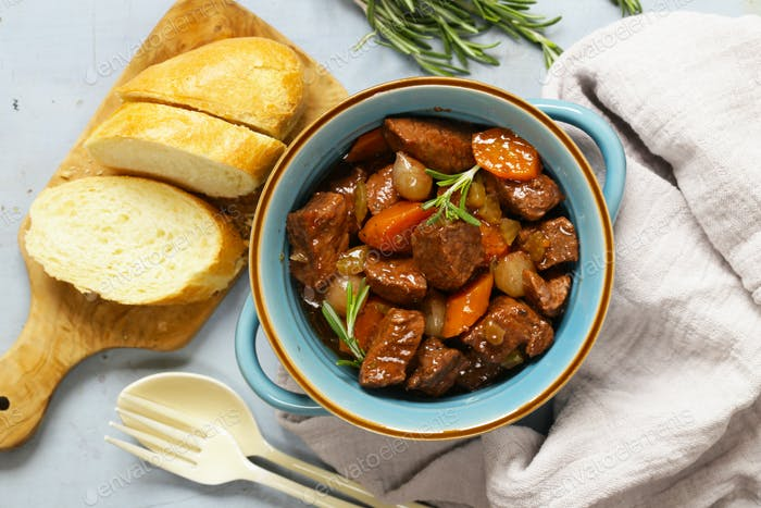 Stew Meat with Vegetables