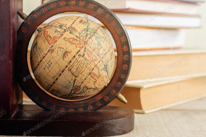 Globe on the desk